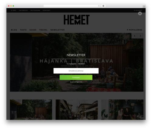 15zine (shared on themelord.com) WordPress theme - hemmet.sk