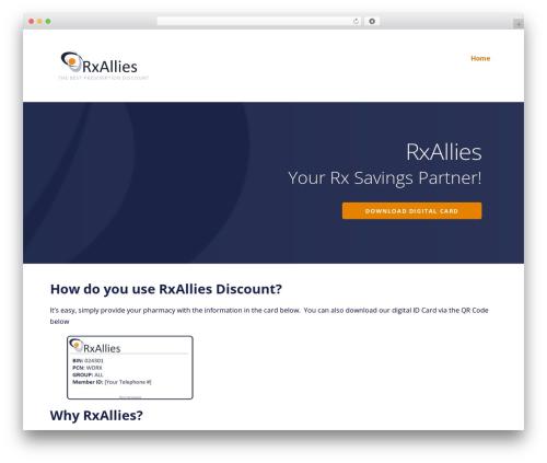 Ascension WordPress theme - rxallies.com