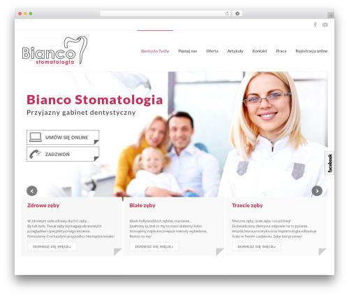 iMedica WordPress theme design - bianco-stomatologia.pl