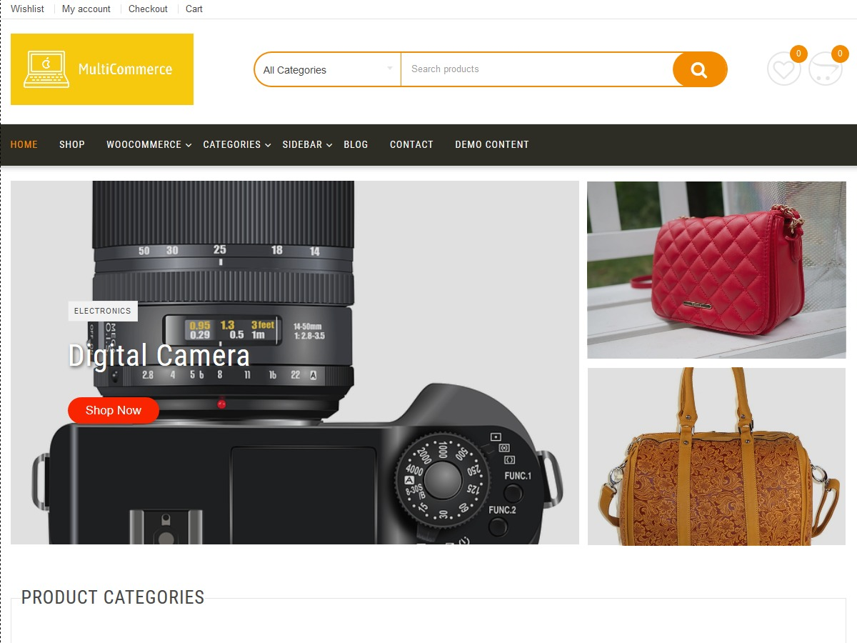Multicommerce WordPress shopping theme