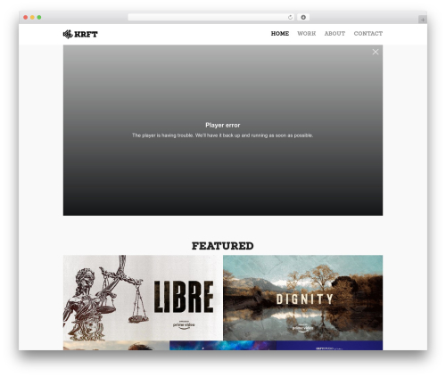 Oren WordPress template free download - krft.tv