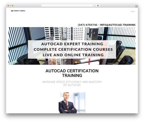 WordPress theme Modular - autocad.training