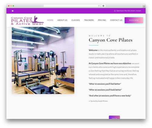 Deep WordPress theme design - canyoncovepilates.net