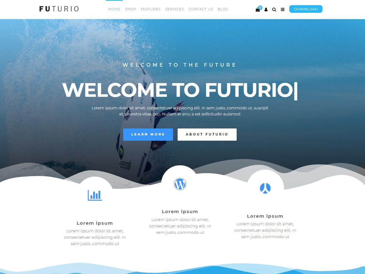 Futurio WordPress store theme