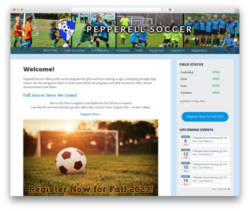 Big Brother WordPress theme - pepperellsoccer.org