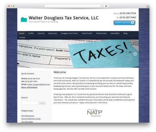Customized business WordPress theme - walterdouglasstaxservice.com