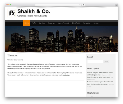 Customized WordPress template for business - shaikhcpa.com