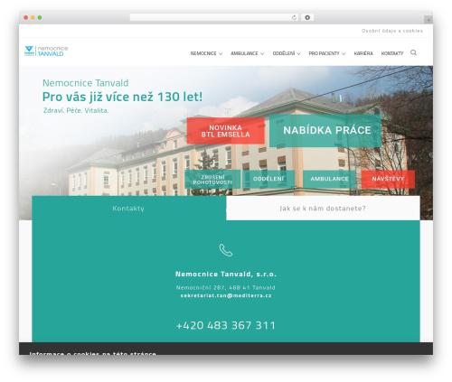 MedCare WordPress theme - nemocnice-tanvald.cz