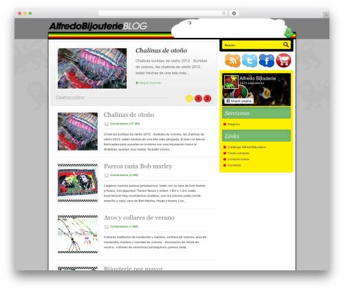 Nublu WordPress blog theme - blog.alfredobijouterie.com.ar