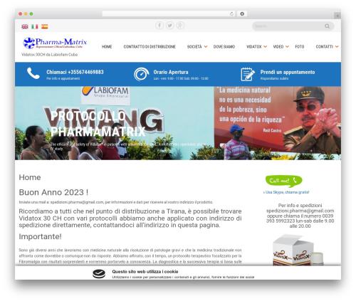 Sanitorium premium WordPress theme - pharmamatrix.net