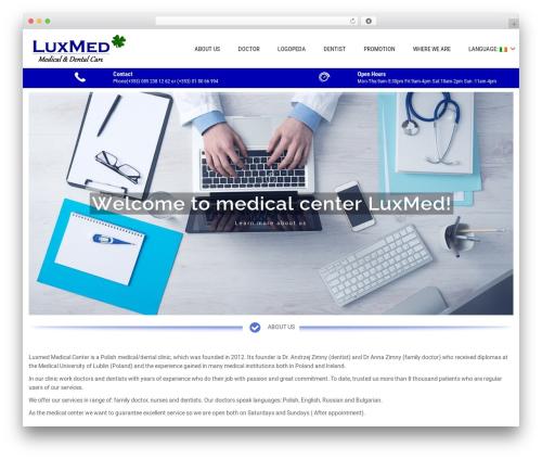WordPress template Sanitorium - luxmed.ie