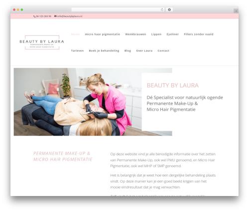 Divi premium WordPress theme - beautybylaura.nl