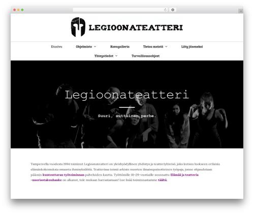 GeneratePress theme WordPress - legioonateatteri.fi