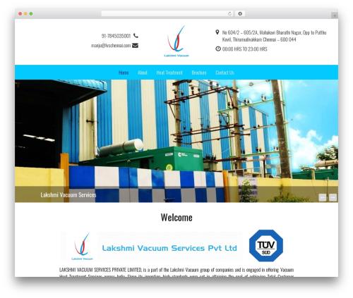 Holidays WordPress website template - lvschennai.com