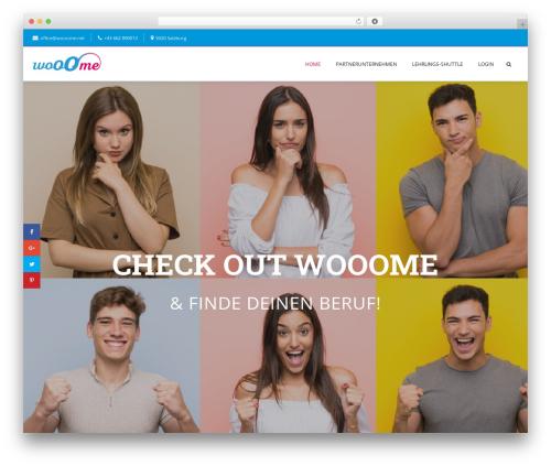 Template WordPress Creativo Theme - wooome.net