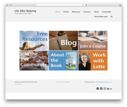 Atomic Blocks theme WordPress - lifeafterbullying.com