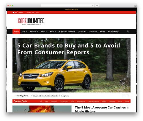 Newspaper WordPress page template - carzunlimited.com