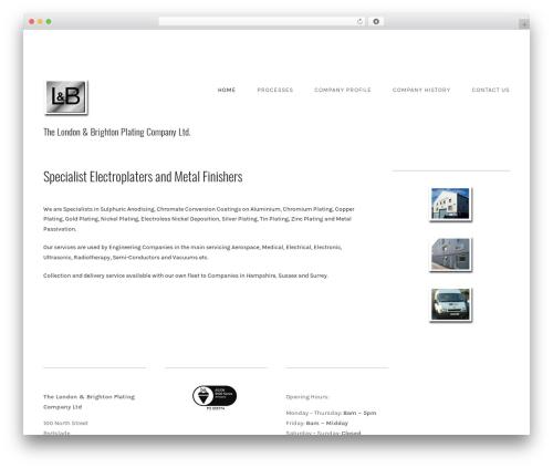 Qua WordPress template for business - lbplating.com