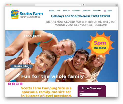 Template WordPress Orao - scotts-farm-camping.co.uk