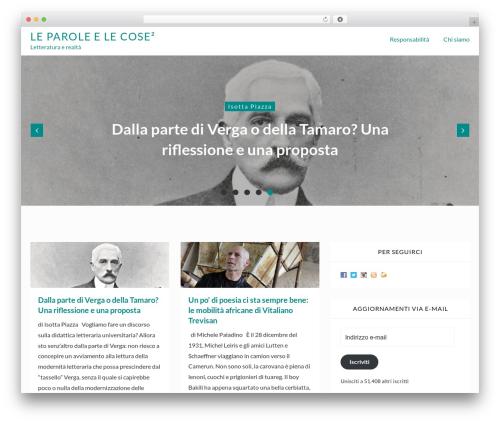 Webblog WordPress blog template - leparoleelecose.it