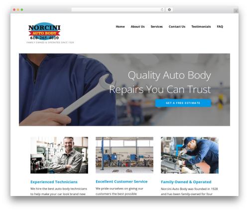 Ascension premium WordPress theme - norciniautobody.com