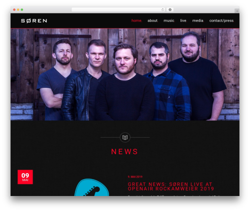 MUZIQ Jellythemes WordPress theme design - soerenmusic.ch