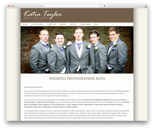ProPhoto photography WordPress theme - katiataylor.com