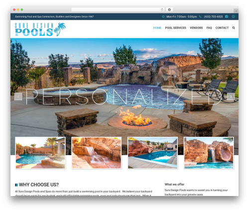 SwimmingPool company WordPress theme - suredesignpools.com