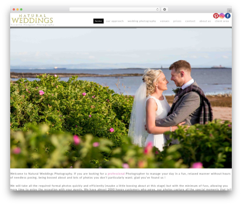 Theme best wedding WordPress theme - naturalweddings.net