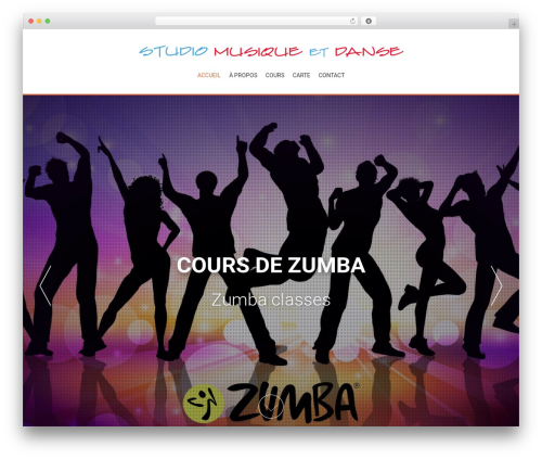 AccessPress Parallax WordPress theme free download - studiomusicanddance.com