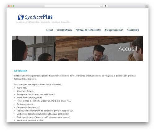 Ascension theme WordPress - syndicatplus.com