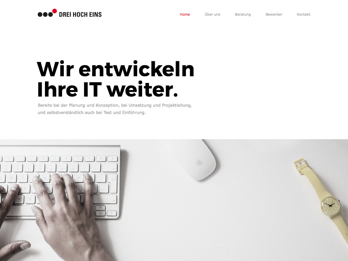 Best WordPress template DREI HOCH EINS