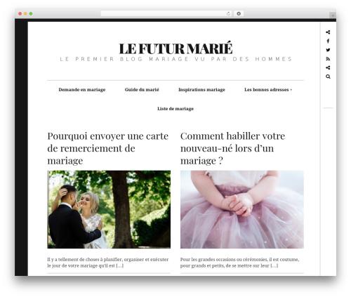 Hive WordPress blog template - lefuturmarie.com
