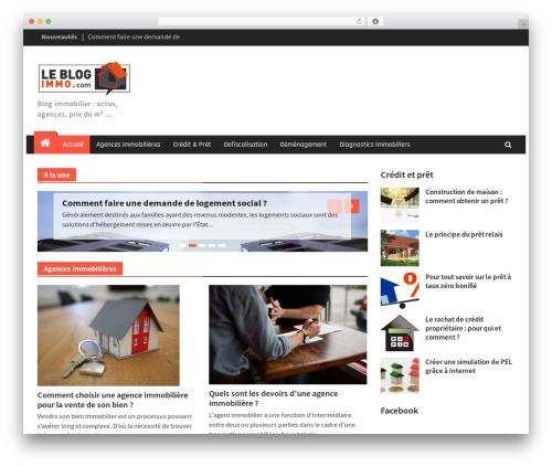 Magazine Plus WordPress news theme - leblog-immo.com