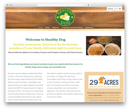 Template WordPress DynamiX - dogfoodhomemade.com