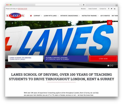 TheBuilt WordPress theme - lanesschoolofdriving.co.uk