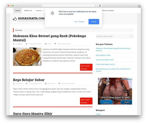 Best WordPress theme ktz freak - katakatakita.com