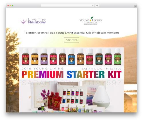 Divi WordPress website template - live-the-rainbow.com