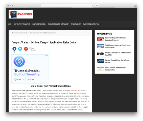 LiveBlog best free WordPress theme - ipassportstatus.in
