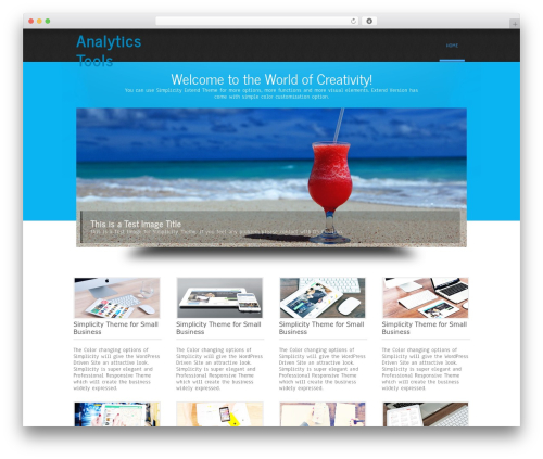 Simplicity Lite WordPress template free - analyticstools.org