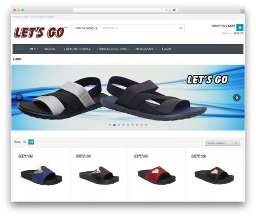 WPO Shopping WordPress ecommerce theme - letsgostore.com