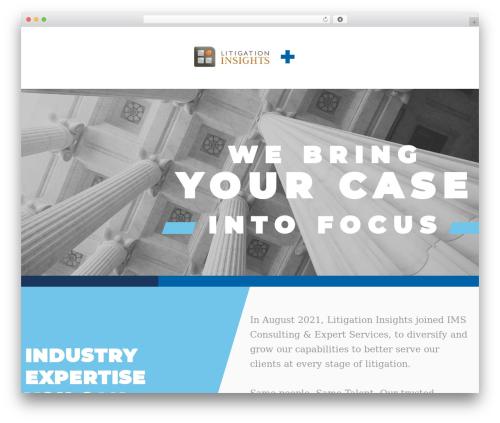 AWI best WordPress theme - litigationinsights.com