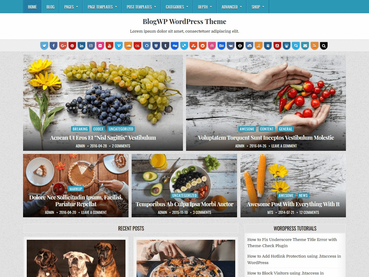 BlogWP WordPress blog template