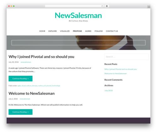 Primer free WordPress theme - newsalesman.com