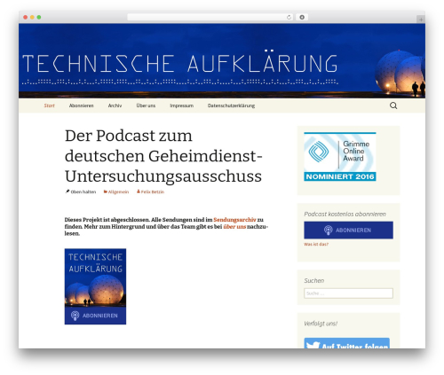 Twenty Thirteen theme WordPress - technische-aufklaerung.de