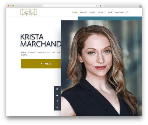 WordPress theme Divi - kristamarchand.com