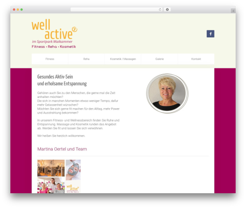 WordPress website template Unity - well-active.info