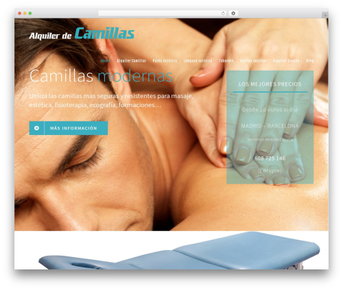 Avada best WordPress template - alquilerdecamillas.com