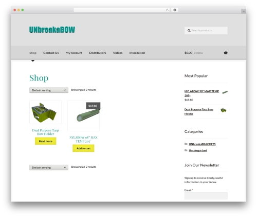 Boutique theme WordPress free - unbreakabow.com