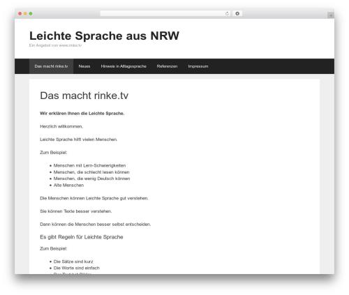 GeneratePress template WordPress free - leichte-sprache.nrw